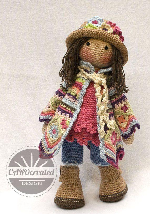 Crochet Pattern for Doll DAWN, pdf (Deutsch, English, Français, Nederlands, Español, Italiano)