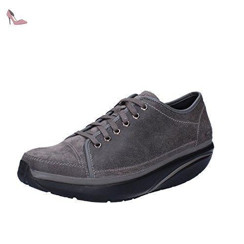 MBT Sneakers Homme 42 EU Gris Cuir / Daim - Chaussures mbt (*Partner-