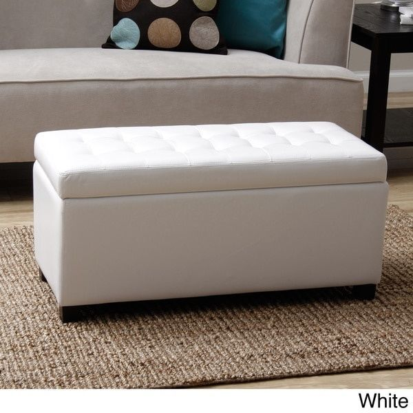 White Malm Storage Bench Ottoman Warehouse Of Tiffany Store Blankets Pillows New Upholstered Storage Bench Storage Ottoman Bench Living Room Furniture Arrangement