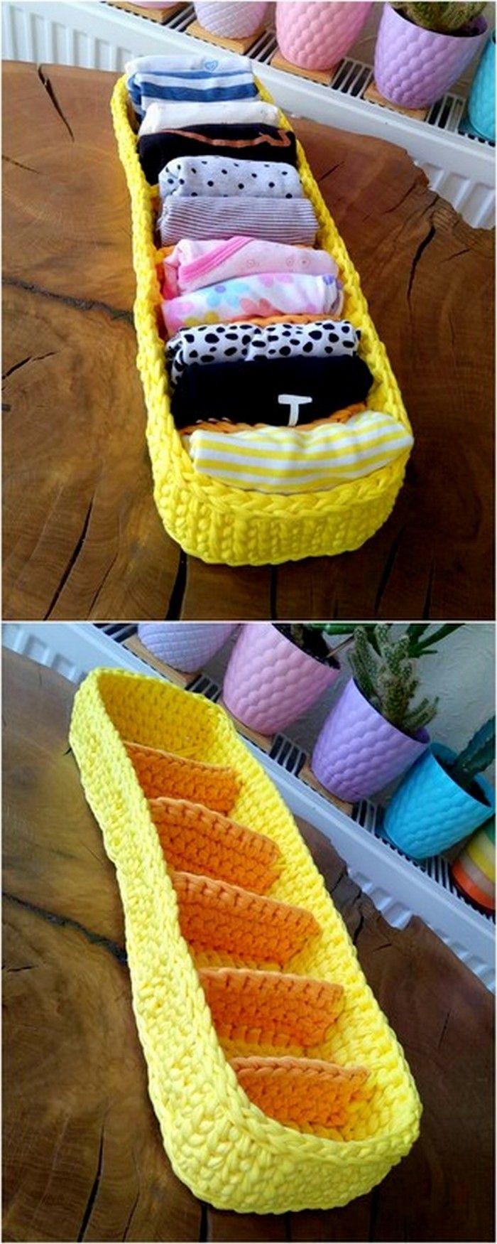 Easy Crochet Ideas For Useful Crochet Creations #crochetprojects