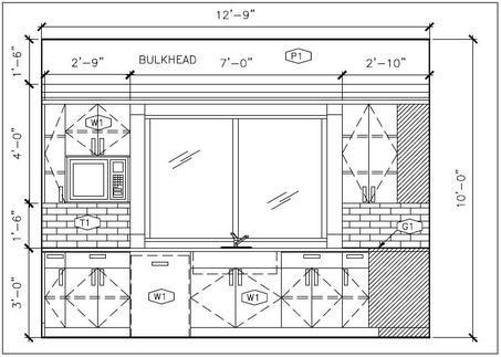 Sketch Elevation Bathroom