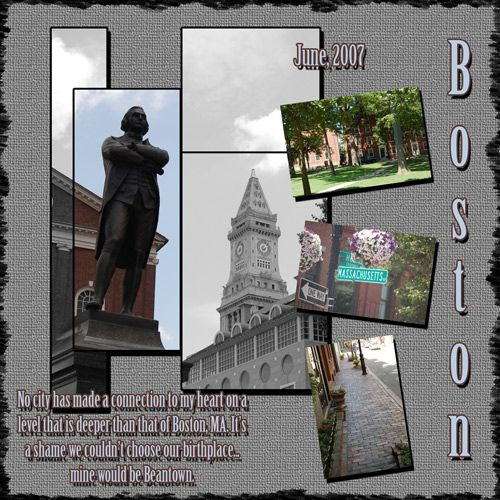 Boston Vacations Ideas: Boston Scrapbook Layout Idea
