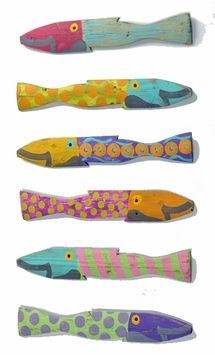 Accessories. Wall decor. Fence Fish Caribbean Style to hang on your wall.  Hand painted artwork.