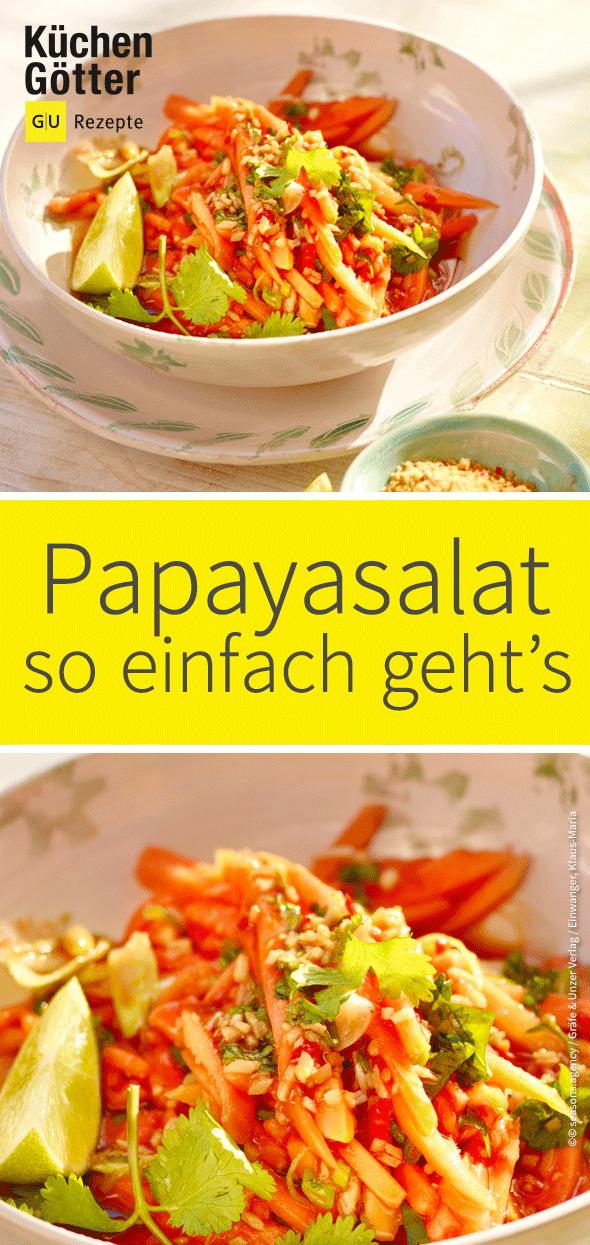 Papayasalat #vegetarischerezepteschnell
