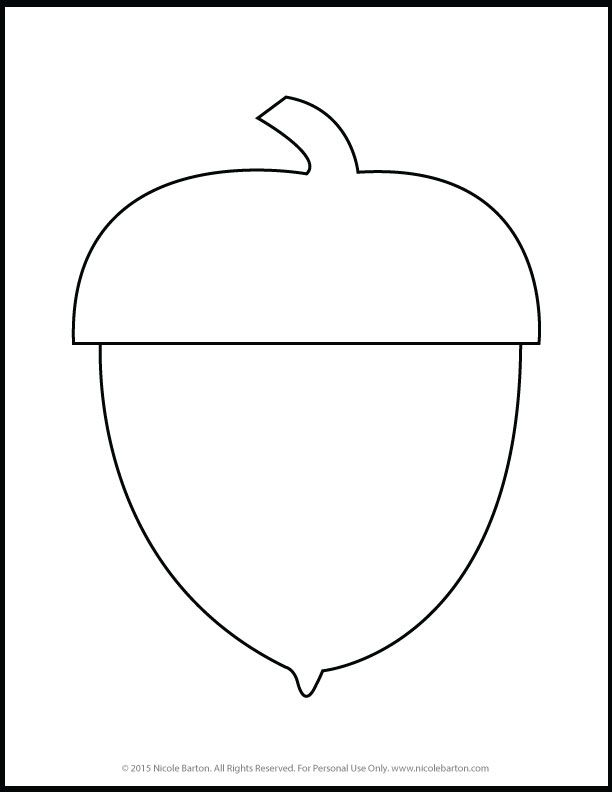Free Printable Acorn Fall Coloring Pages for Kids   Fall ...