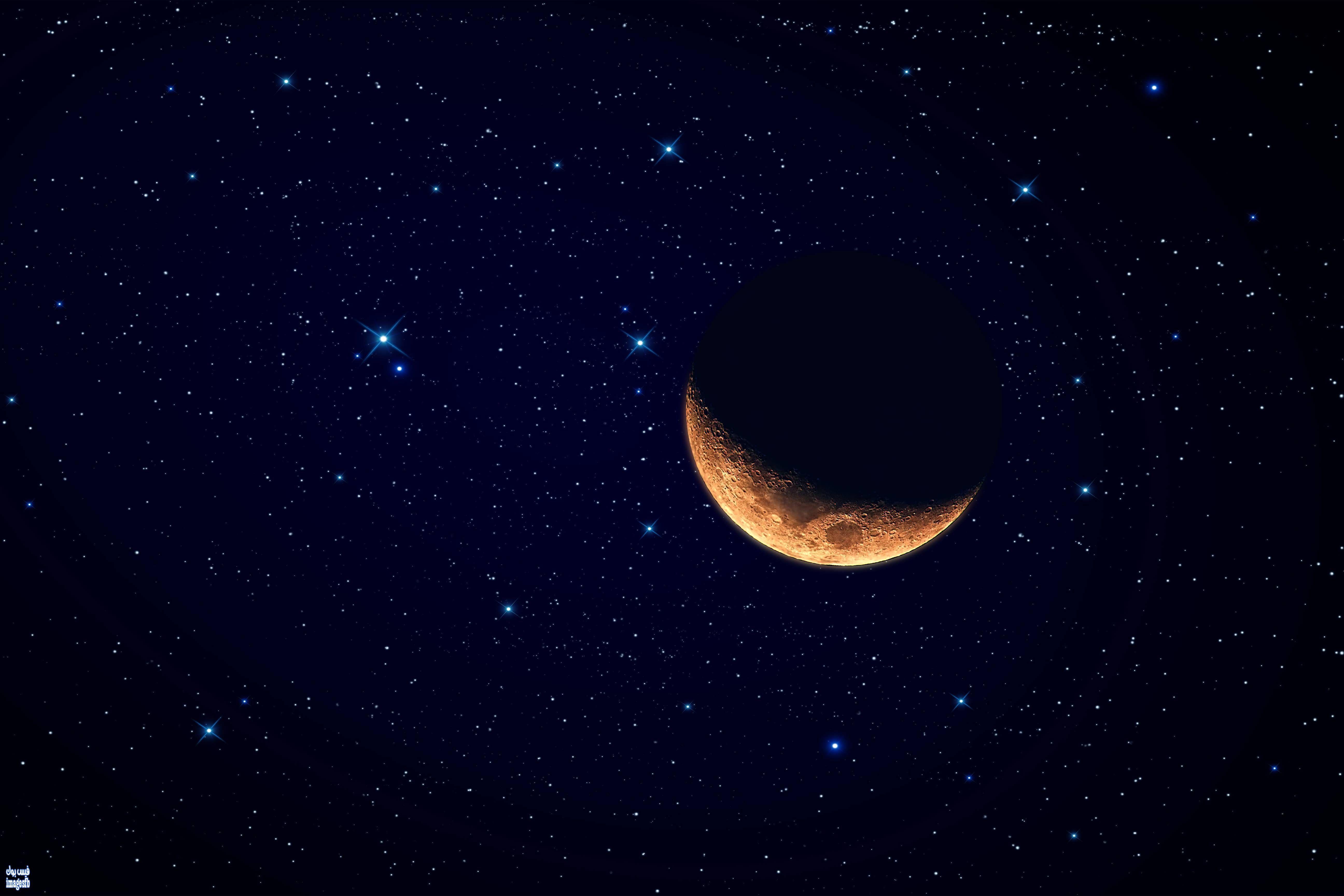خلفيات لاب توب 2018 اروع خلفيات لابات طبيعيه Lap Top Wallpapers Moon And Stars Wallpaper Beautiful Moon Star Wallpaper