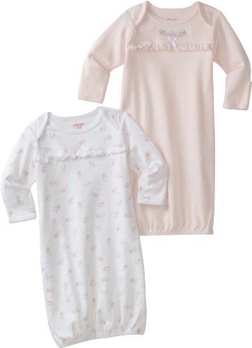 Little Me Baby-Girls Newborn Rosy Posy 2 Pack Gown $22.50