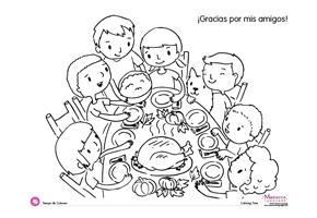 ¡Gracias por mis amigos! #free spanish coloring pages