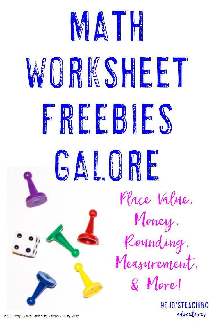 Math Worksheet Freebies Galore