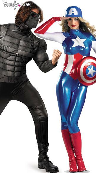Superhero And Villian Couples Costume Menu0027s Muscular Winter Soldier Villain Costume Mens Superhero Costumes  sc 1 st  Pinterest & Superhero And Villian Couples Costume Menu0027s Muscular Winter Soldier ...