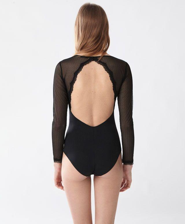 dafcffb365 Body plumeti micro - Regalos Lencería - Tendencias AW 2016 en moda de mujer  en Oysho online  ropa interior