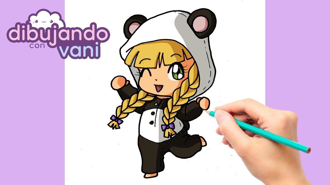 Como Dibujar Una Nina Con Pijama De Panda Kawaii Dibujos Para Dibujar Como Dibujar Ninos Panda Kawaii Kawaii