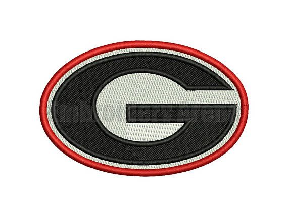 Football Embroidery Design Georgia Bulldogs Instant Embroidery