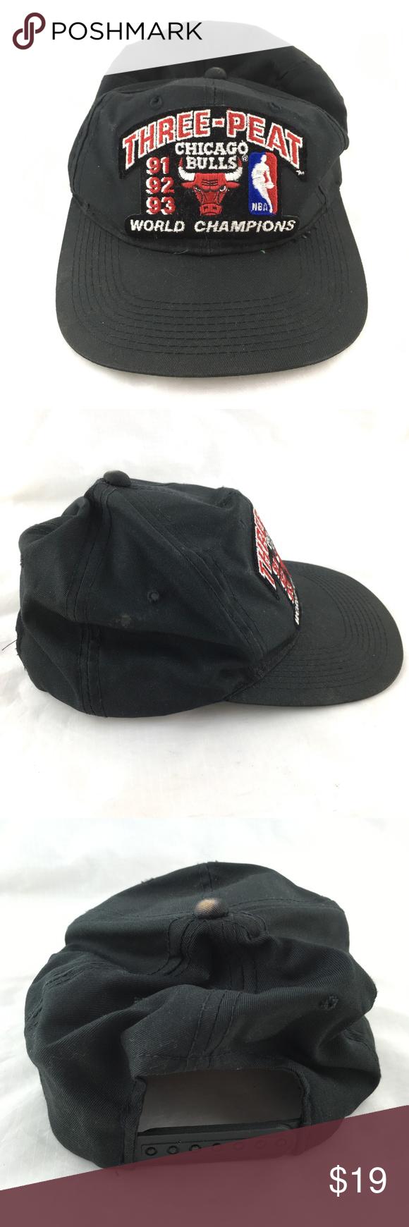 best website 3e8e4 5e8f7 Vintage 90s hat Chicago Bulls championship 1990s Vintage 90s baseball hat    cap, Chicago Bulls