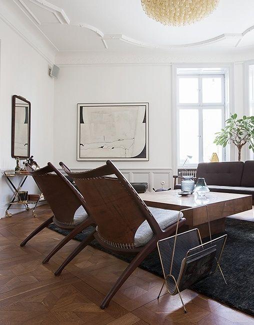 mid century modern apartment in stockholm via coco lapine design
