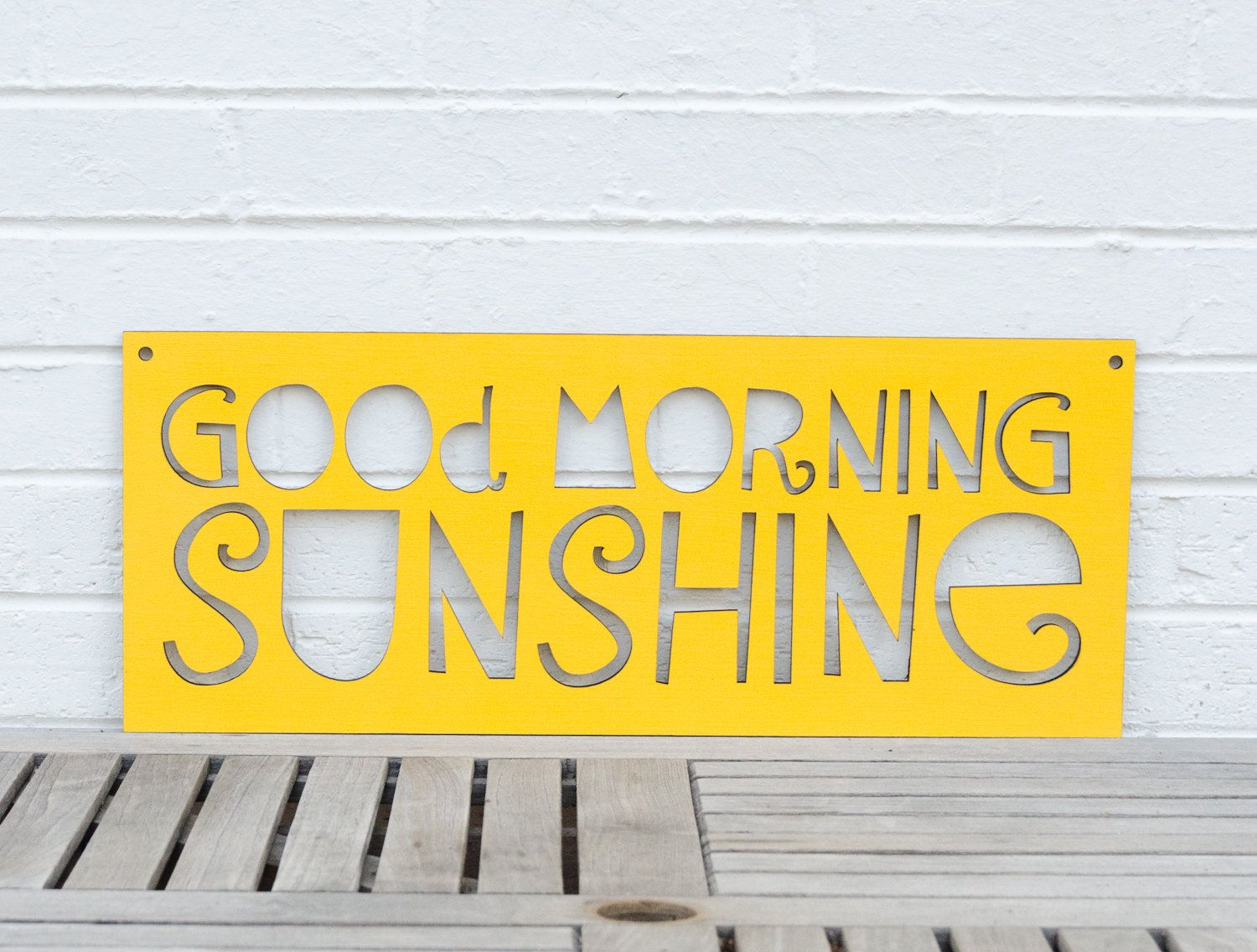 Good Morning Sunshine Quotes: Good Morning Sunshine Sign By Spunky Fluff. Cut From