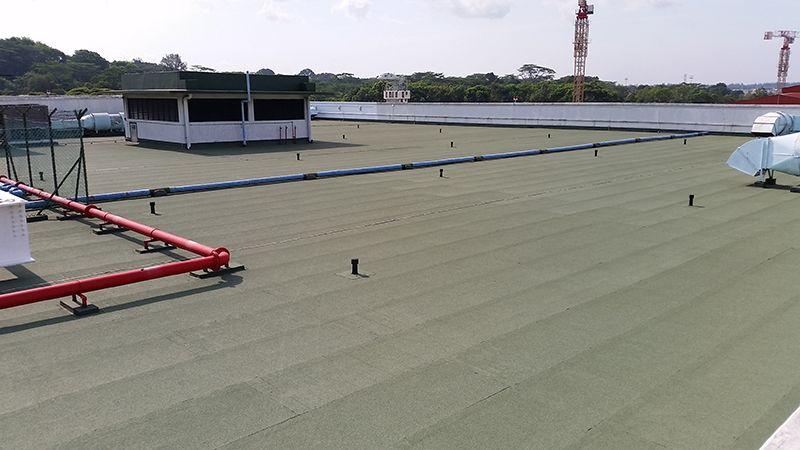 RC Flat Roof Waterproofing Work at Loyang Way Flat roof