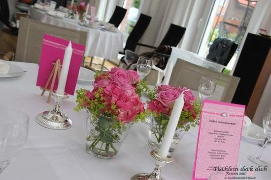 Kommunionsfeier Fur Ein Madchen Festlich In Rosa Und Pink Stalo