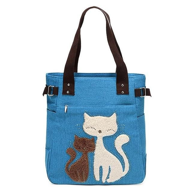 Cat and Kitten Canvas Handbag. Canvas HandbagsWomen s HandbagsVegan HandbagsCanvas  BagsCute CatsTote ... fc1afb88116c4