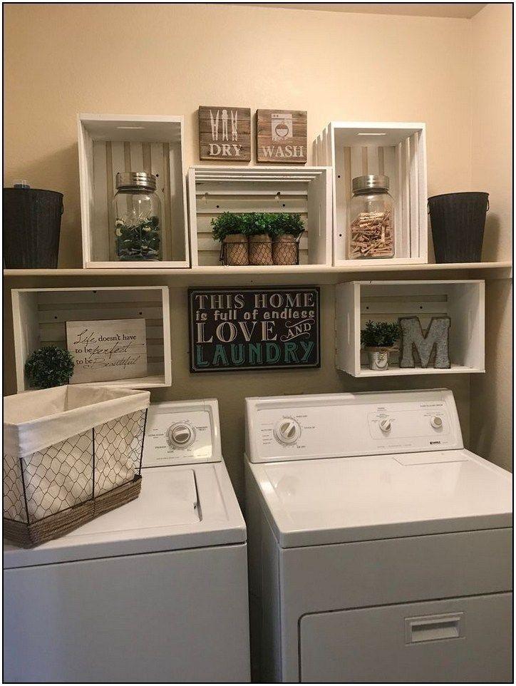 32+ smart farmhouse laundry room storage organization ideas 40 * homeplandecor.com