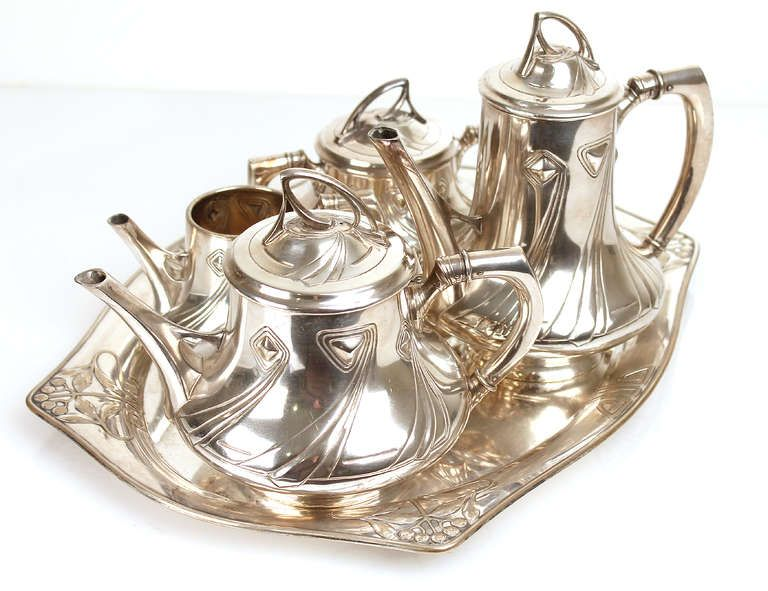 1900 Wmf Art Nouveau Jugendstil Coffee And Tea Service Set