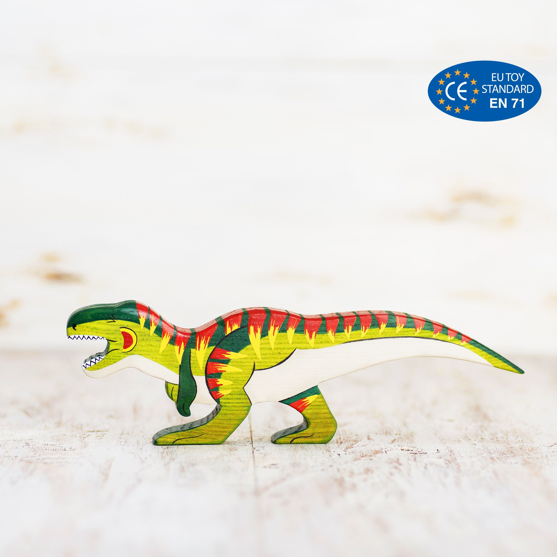 Wooden T Rex Toy Tyrannosaurus Rex Figurine Dangerous Dinosaur Toys T Rex Toys Dinosaur Toys Dinosaur Small World