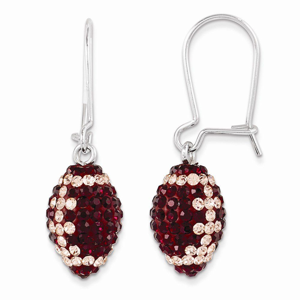 Perfect Jewelry Gift Sterling Silver Swarovski Elements U of Oklahoma Football Earrings. Jewelry Brothers designer gifts. Up to 75% off retail prices. Jewelry items come with a FREE gift box. 21-days money back guarantee. Exceptional customer service.