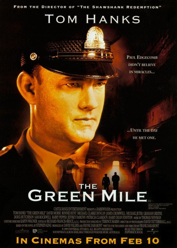 Poster For The Green Mile Miles Movie Movies Worth Watching Great Movies