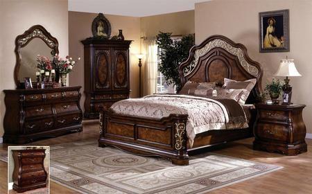 Best Sh2221K Shevon King Panel Bed In Dark Cherry King 640 x 480