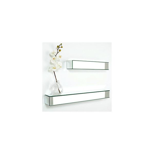 Mirrored Wall Shelves Z Gallerie 50 Found On Polyvore