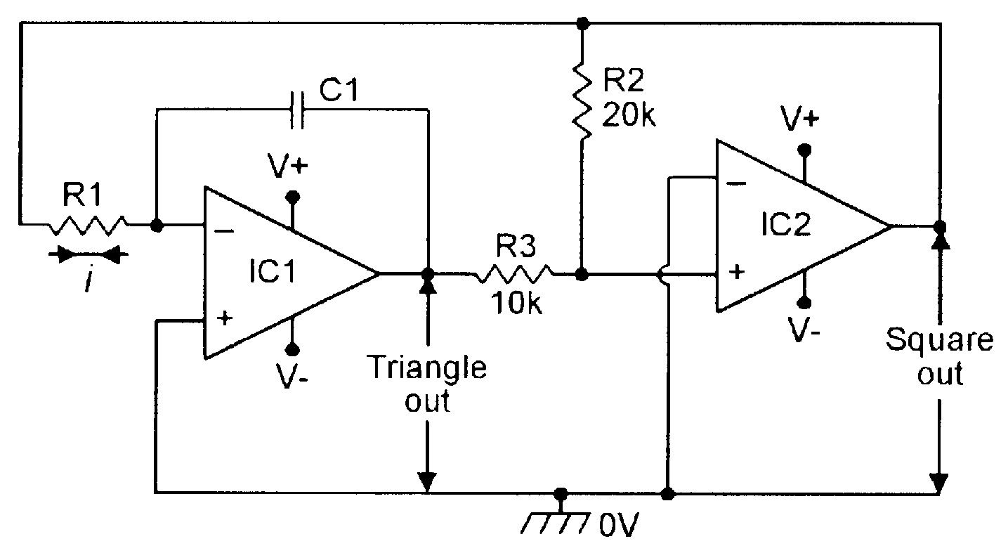 Basic triangle/square function generator.