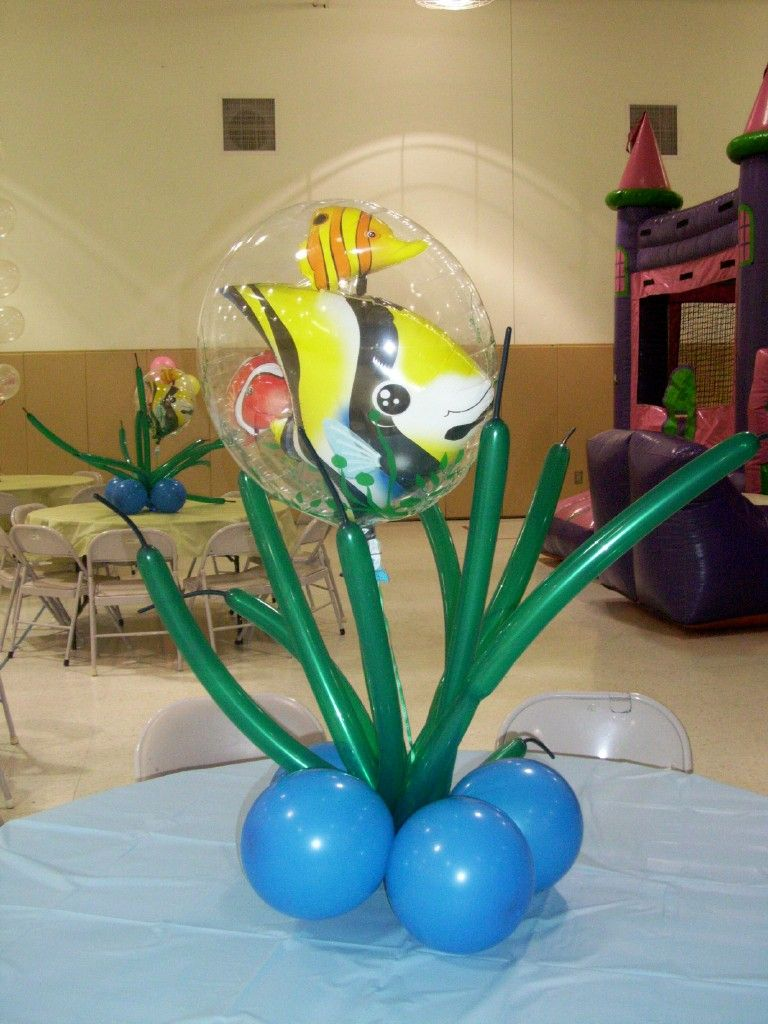 Under the sea decorations with balloons