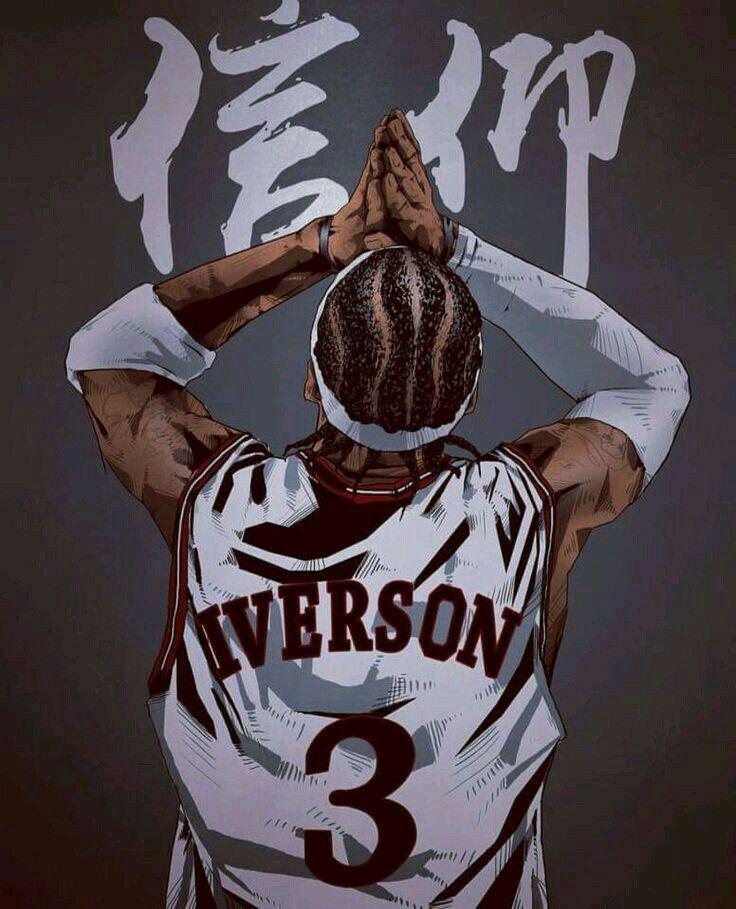 Allen Iverson Nba Basketball Art Nba Pictures Basketball Art