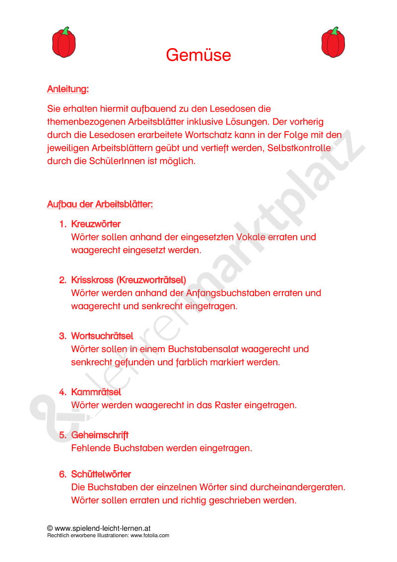 Arbeitsblätter Gemüse | Pinterest | Unterrichtsmaterialien, Obst ...