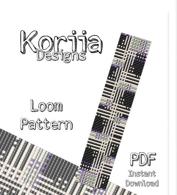 Bead loom Pattern, beading, loom bracelet pattern, PDF