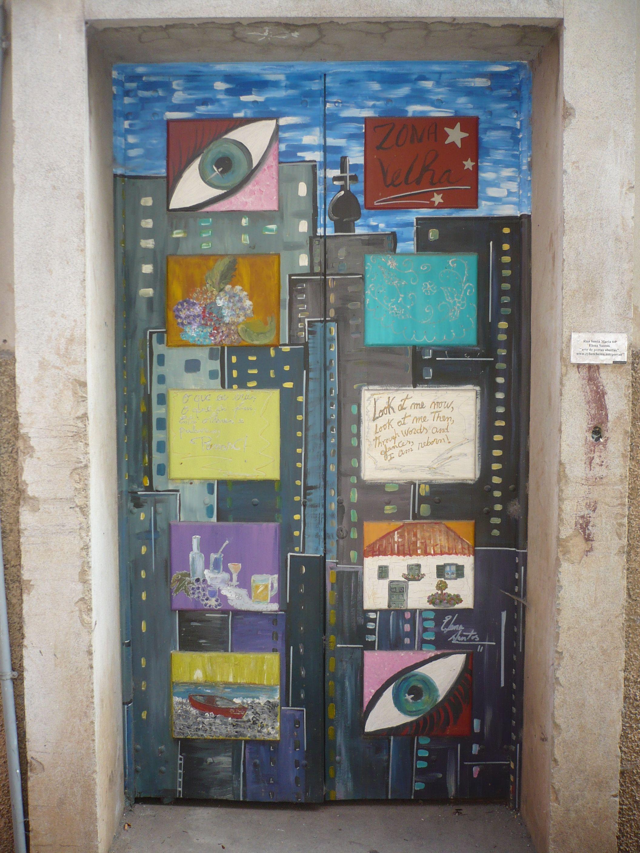 Door Art along Rua de Santa Maria