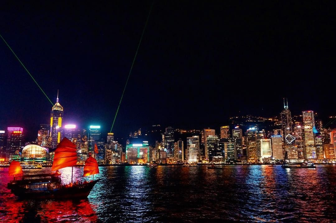 [Post Holiday Day 9] Missing those city night lights in Hong Kong.. Dragging my feed on the thought of weekend is ending and tomorrow is Monday another working day... Need to plan another holiday soon... #CityLights #CityNights #NightLights #VictoriaHarbour #DiscoverHongKong #TravelAsia #AllisonTravels