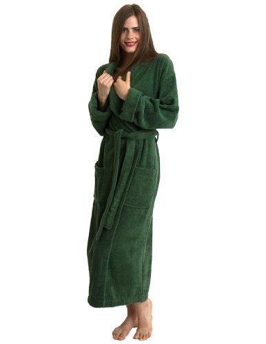 06371ac0ef ... Made in Turkey TowelSelections Turkish Cotton Terry Shawl Robe. Terry  Cloth Bathrobes For Women