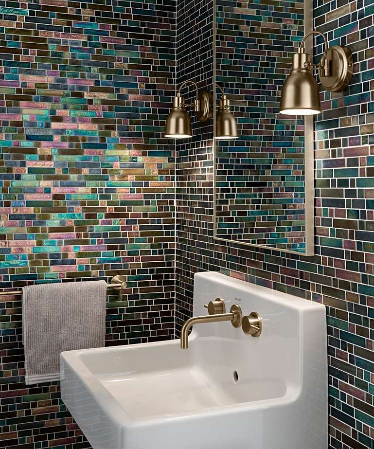 Botella™ Indian Peacock Mosaic Tile in 2020 | Glass tile ...