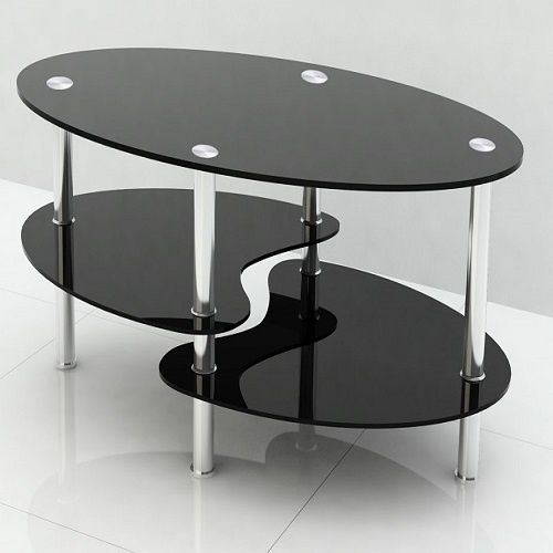 Oval Glass Centre Table Coffee Table Oval Coffee Tables