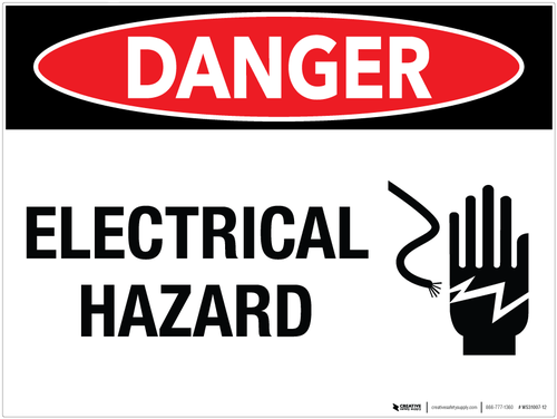 Danger Electrical Hazard Wall Sign Emergency Exit Signs Wall Signs Safety Slogans