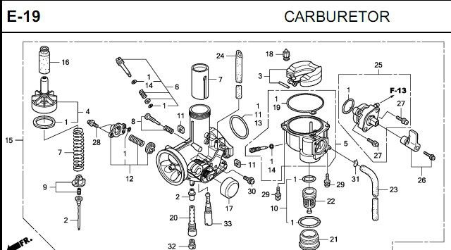 Admirable Aluminum Carburetor For 100Cc Fit To Honda Motorcycle 16100 Krs 901 Wiring Cloud Hisonuggs Outletorg