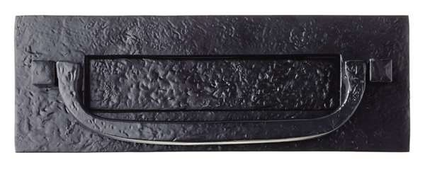Fullbrook Letterplate Postal Knocker 305x102mm Antique Black - door  furniture - letter plates - Letterplate Postal - Fullbrook Letterplate Postal Knocker 305x102mm Antique Black