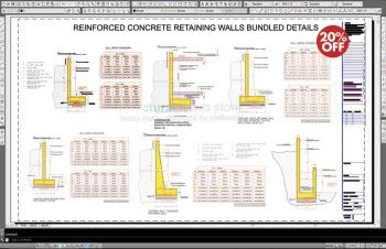 Reinforced Concrete Retaining Walls Bundled Drawing Details
