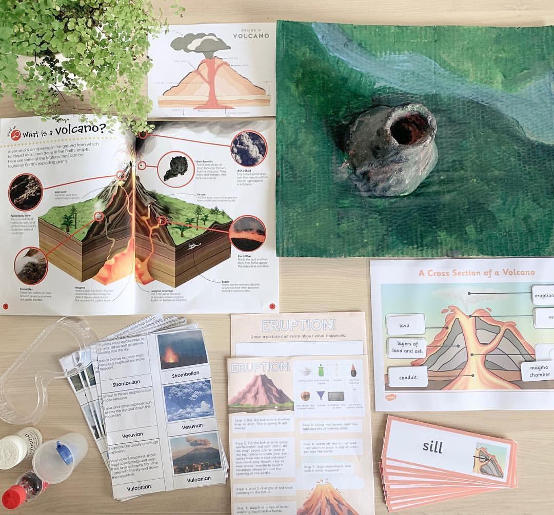 Volcano Study Homeschool Craft Idea Worksheets Links