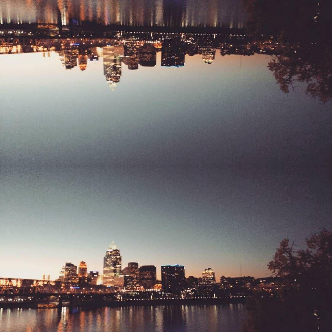 Cincinnati at dusk.  #cincygram #cincinnati