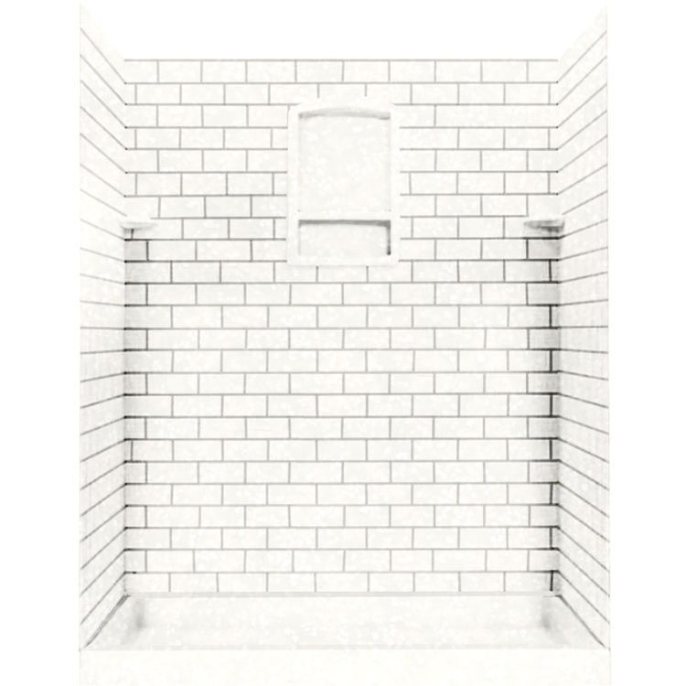 Swanstone Ssst 3696 1 011 Subway Tile Wall Panel 36 X96 Tahiti White Shower Wall Kits Shower Wall Panels Wall Paneling