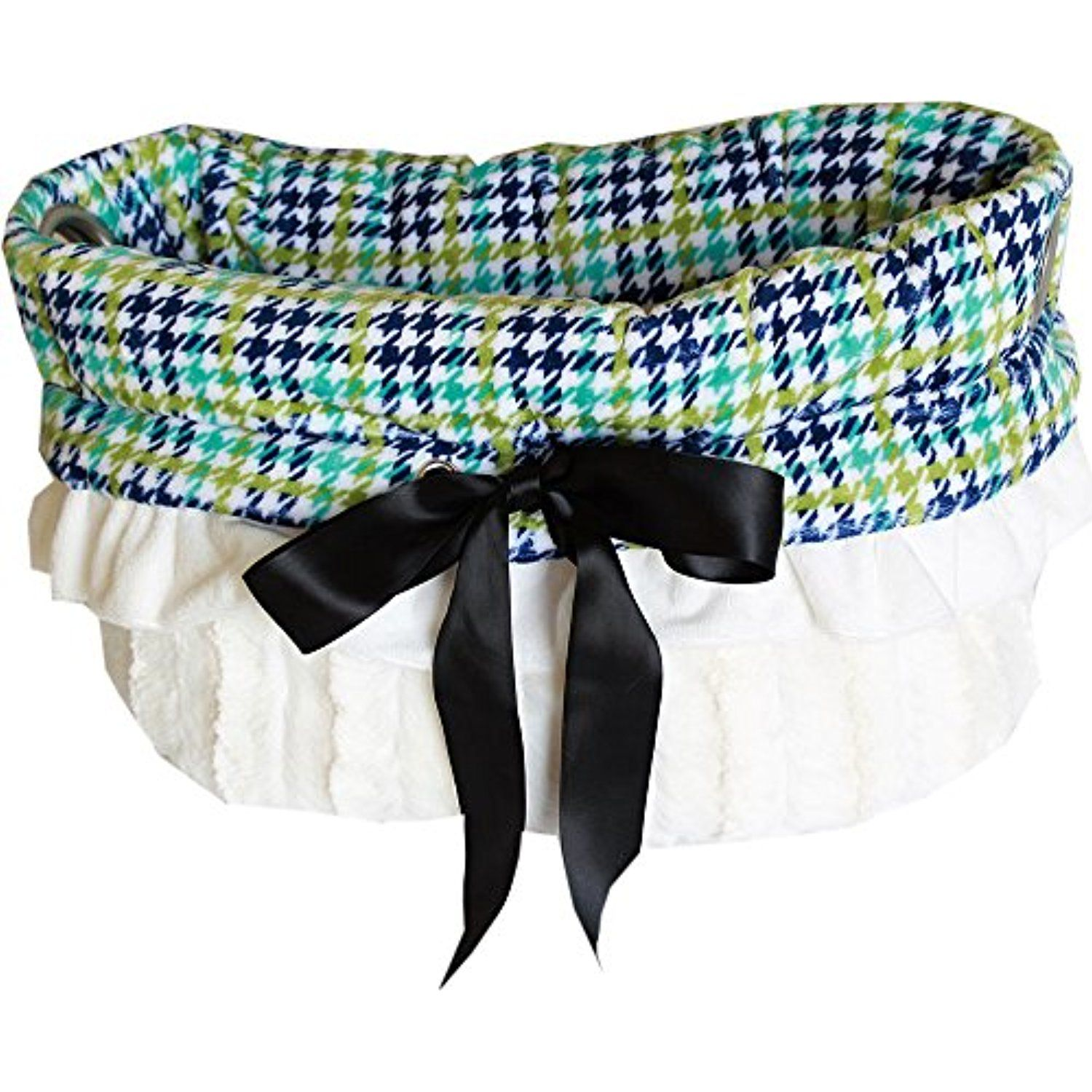Snuggle Bug Reversible Dog Carrier/Bed (Aqua Plaid