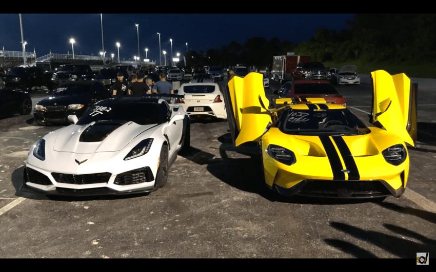 Video 2018 647hp Ford Gt Vs 2019 755hp Corvette Zr1 Ford Gt