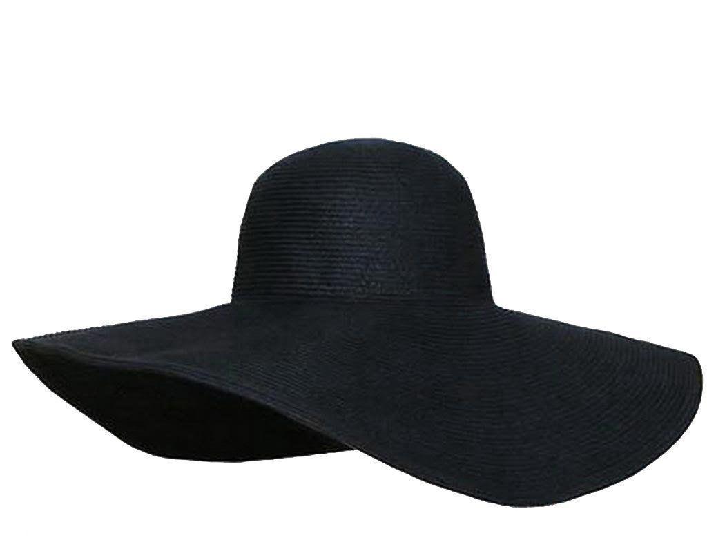 Large Brimmed Garden Beach Big Summer Sun Hat For Womens Black Hatsforwomenblack Summer Hats For Women Floppy Sun Hats Black Straw Hat